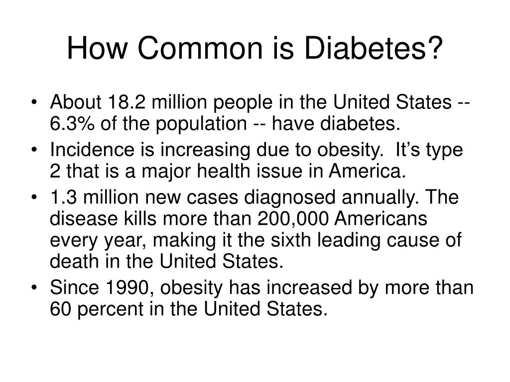 How Common is Diabetes?