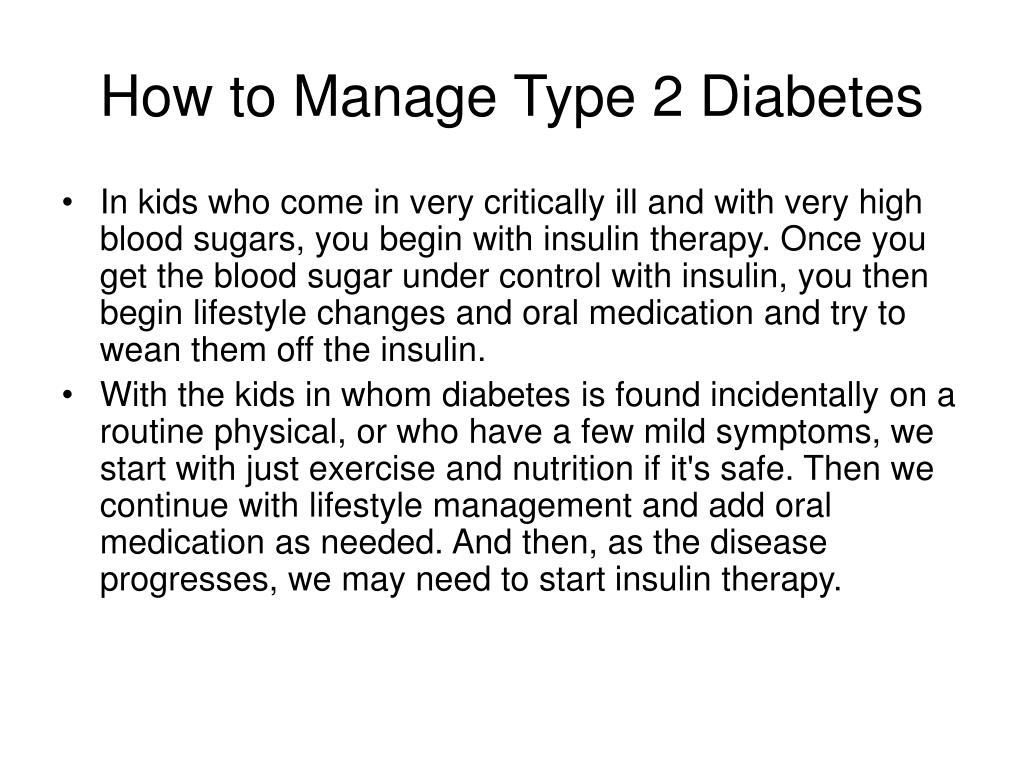 How to Manage Type 2 Diabetes