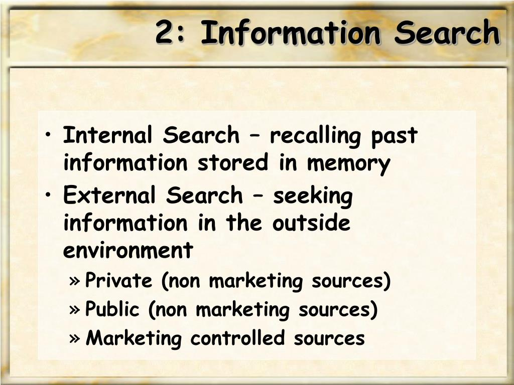 2: Information Search