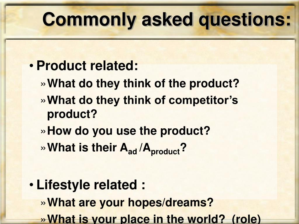 Commonly asked questions: