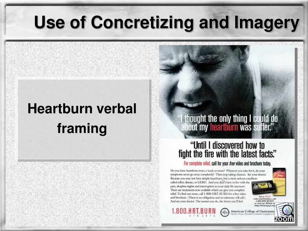 Use of Concretizing and Imagery