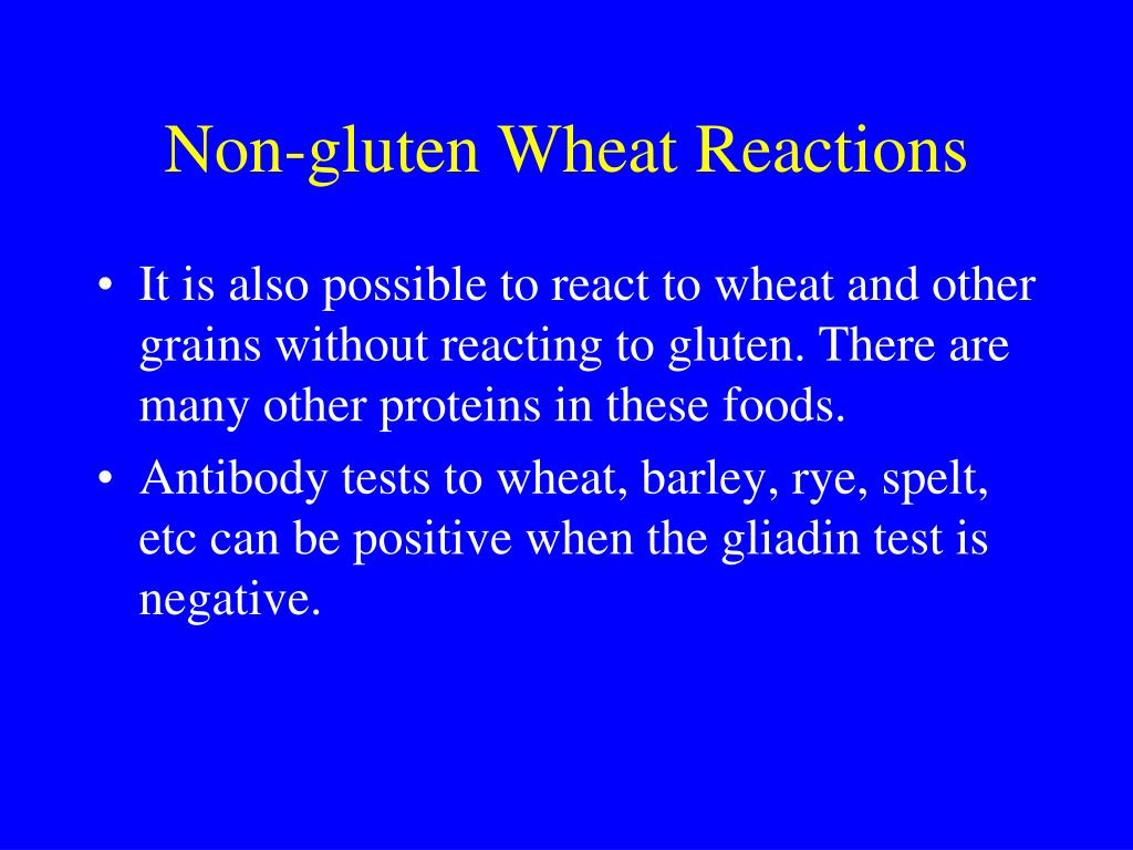 Non-gluten Wheat Reactions