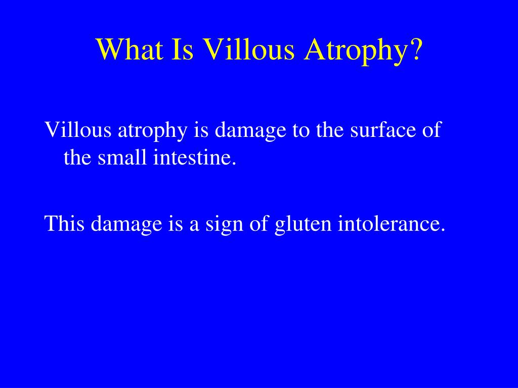 What Is Villous Atrophy?