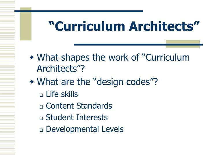 """""""Curriculum Architects"""""""