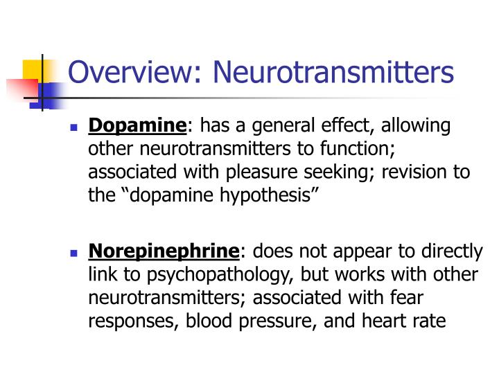 Overview: Neurotransmitters