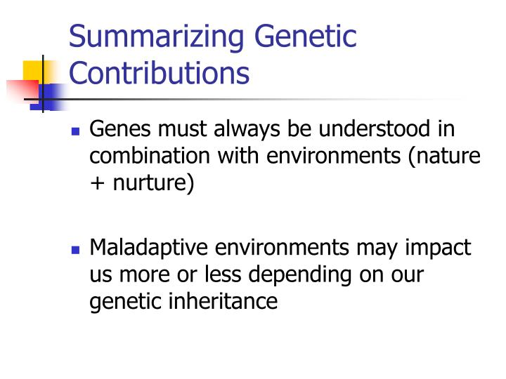 Summarizing Genetic Contributions