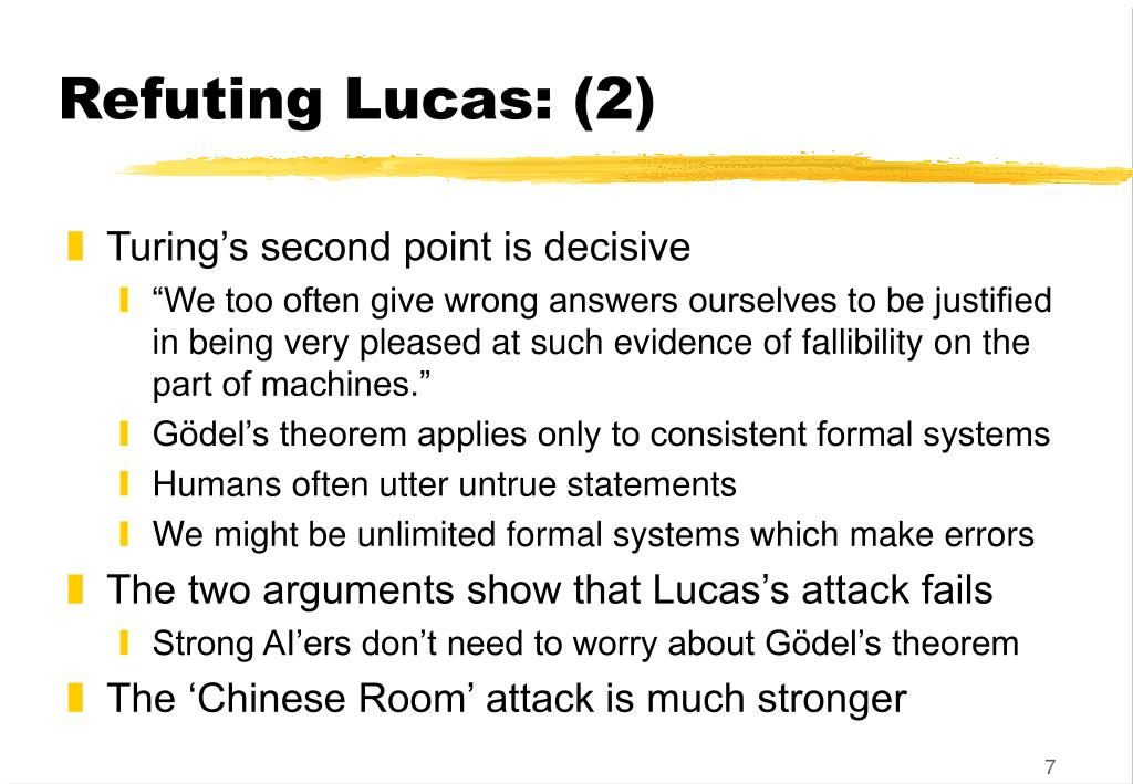 Refuting Lucas: (2)