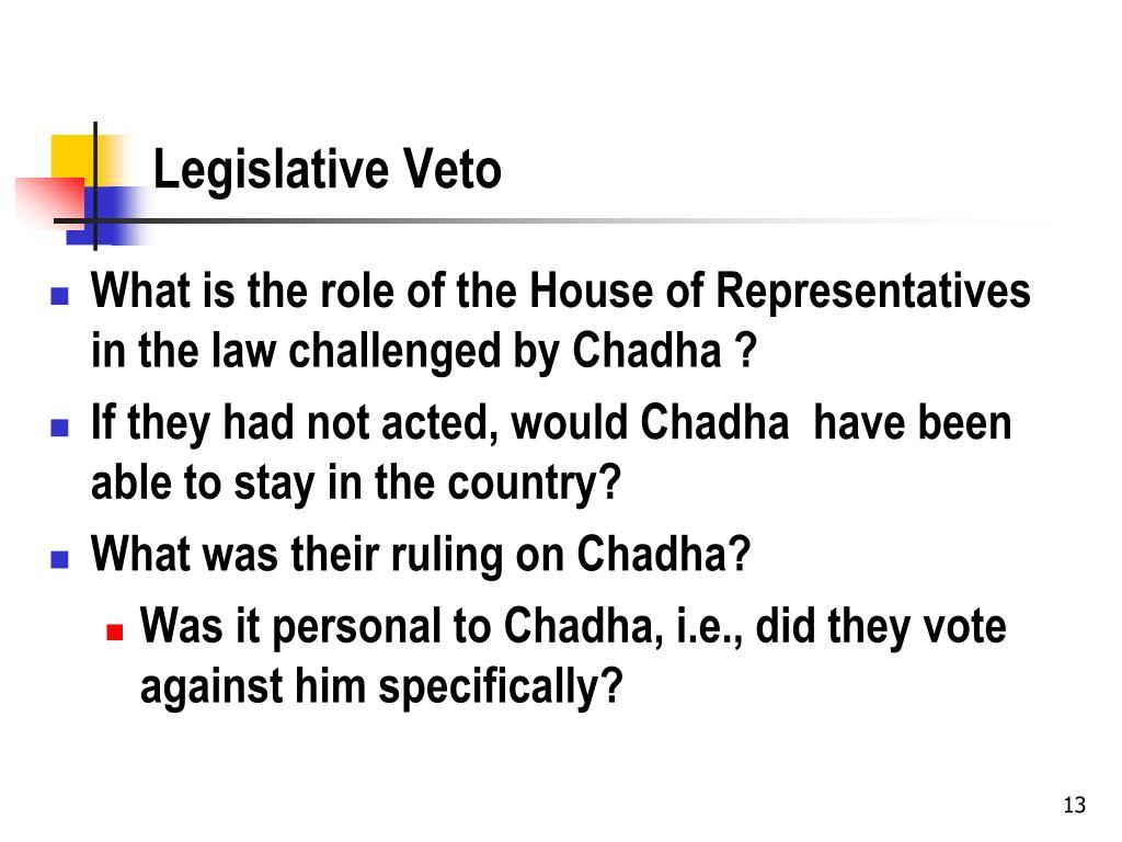 Legislative Veto