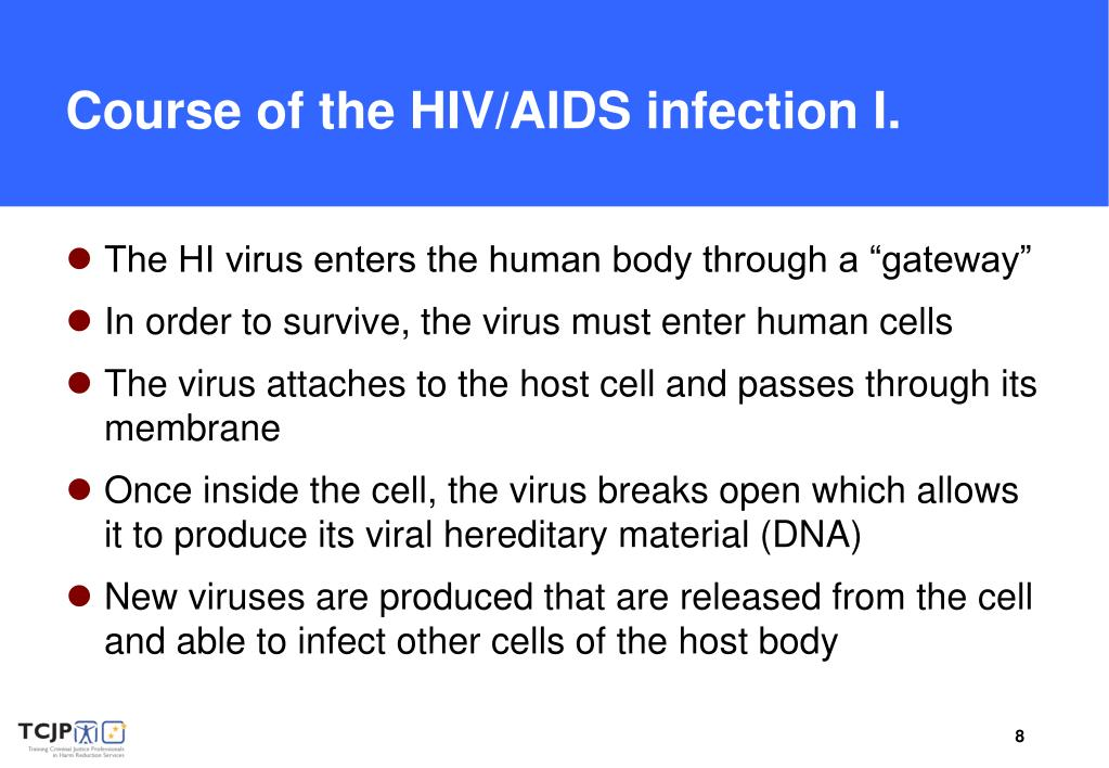 Course of the HIV/AIDS infection I.