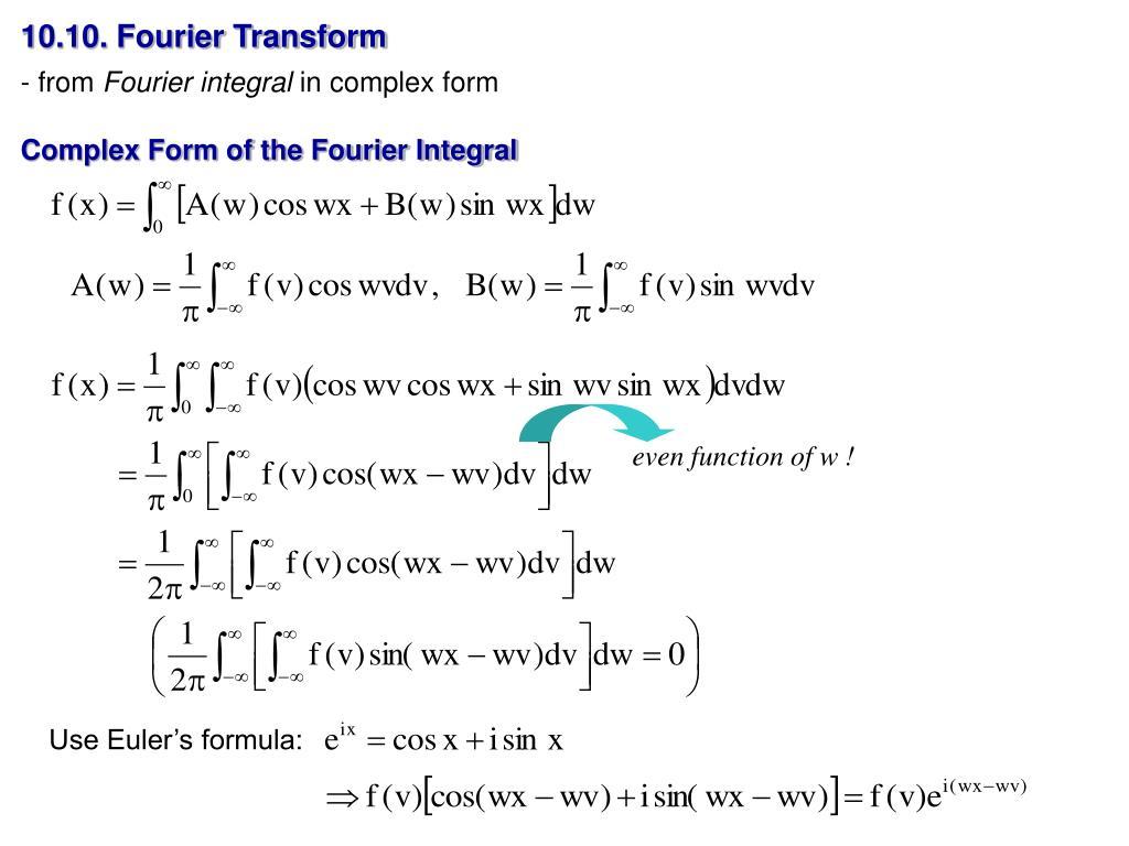 10.10. Fourier Transform