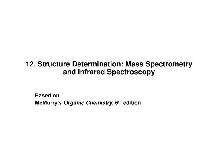 12 structure determination mass spectrometry and infrared spectroscopy l.jpg