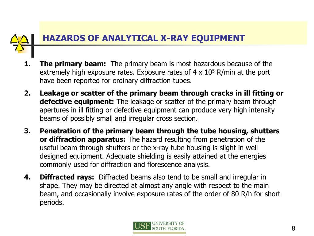 HAZARDS OF ANALYTICAL X-RAY EQUIPMENT
