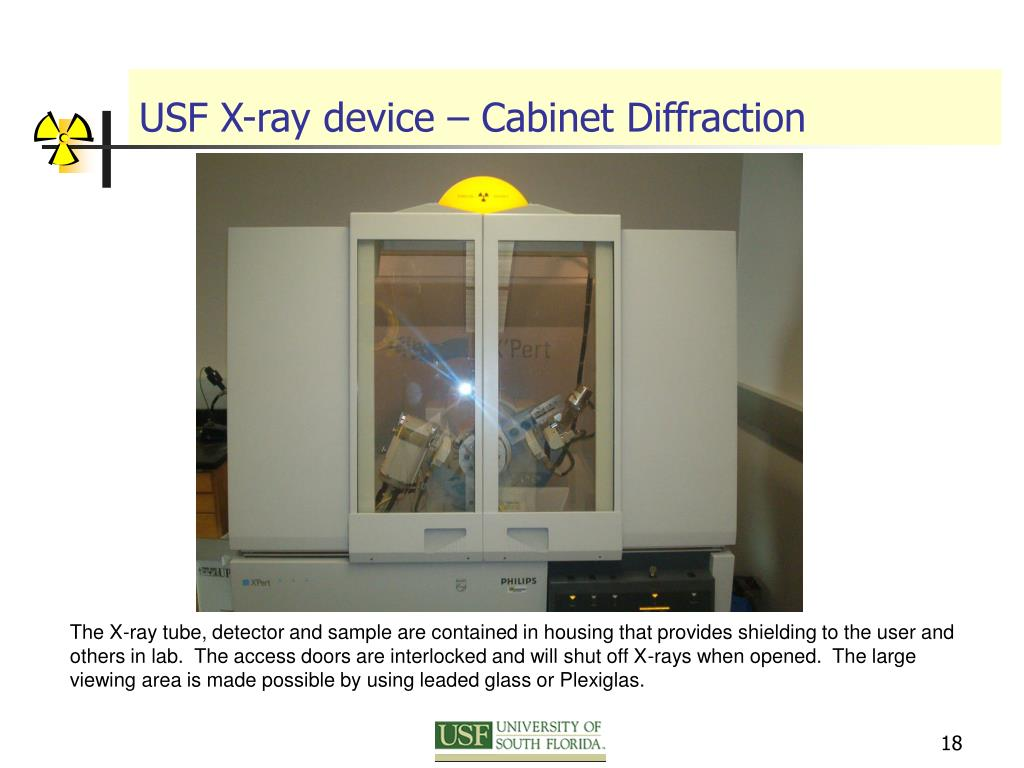 USF X-ray device – Cabinet Diffraction