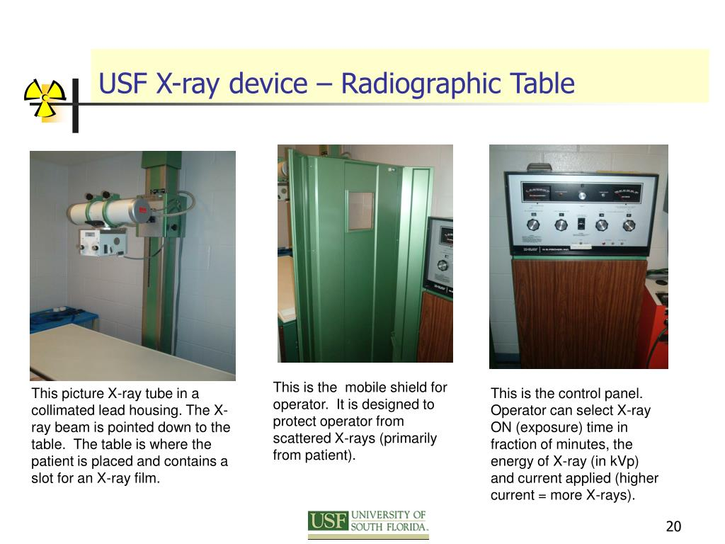 USF X-ray device – Radiographic Table