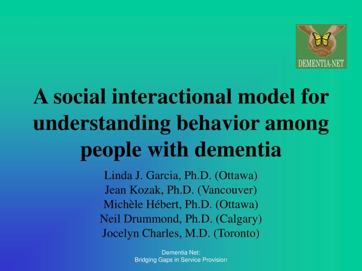 A social interactional model for understanding behavior among people with dementia l.jpg