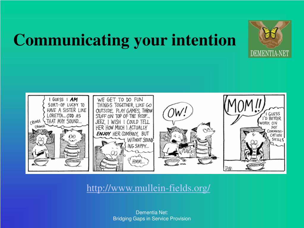 Communicating your intention