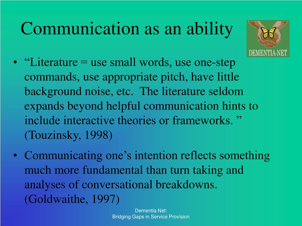 Communication as an ability