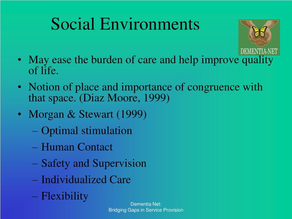 Social Environments