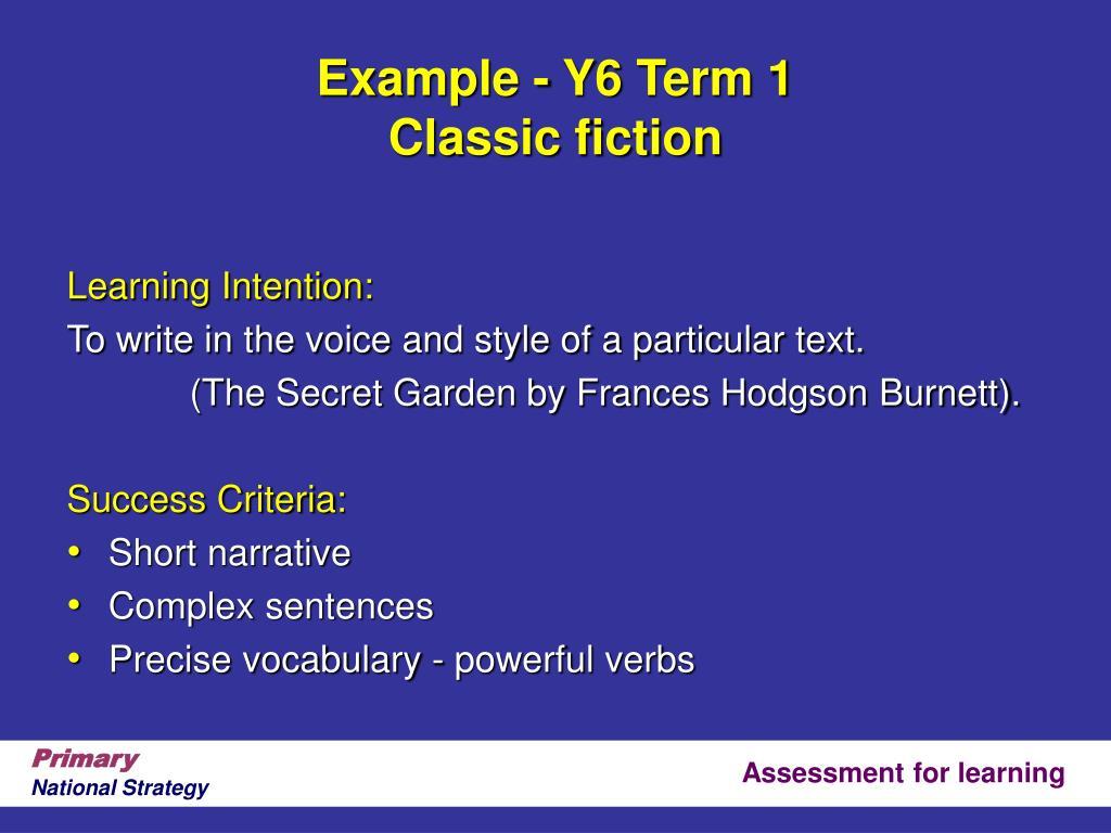 Example - Y6 Term 1