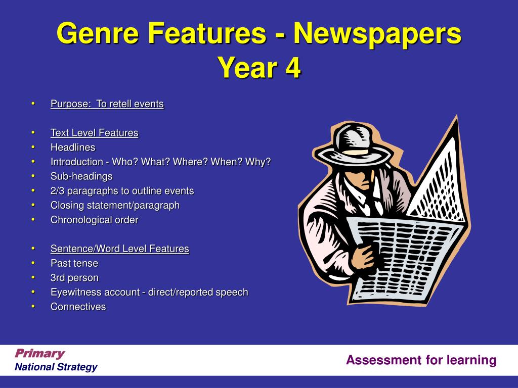 Genre Features - Newspapers Year 4
