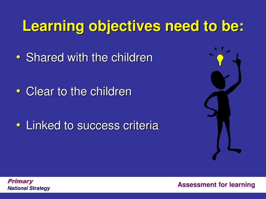 Learning objectives need to be: