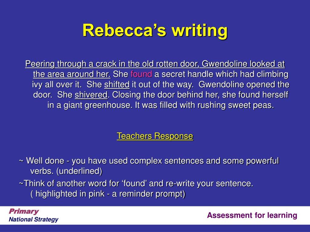 Rebecca's writing