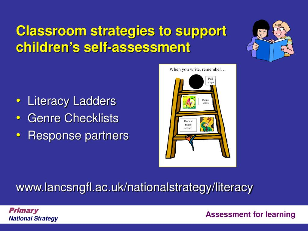 Classroom strategies to support children's self-assessment