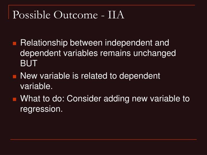 Possible Outcome - IIA