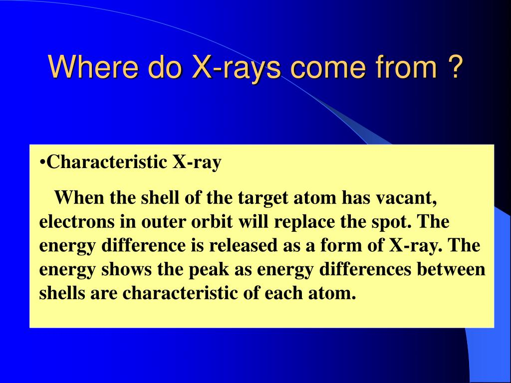 Where do X-rays come from ?