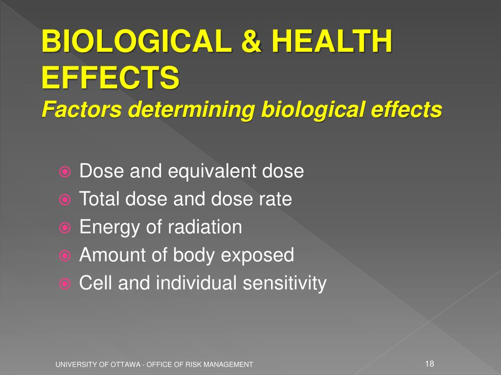 BIOLOGICAL & HEALTH EFFECTS