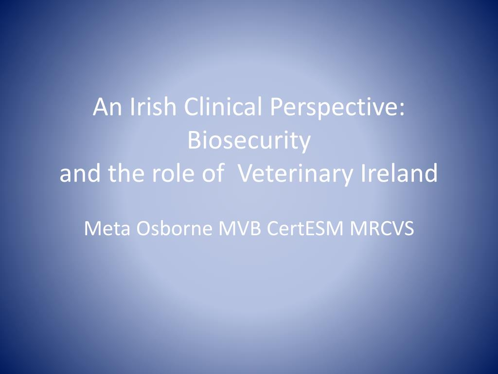An Irish Clinical Perspective: