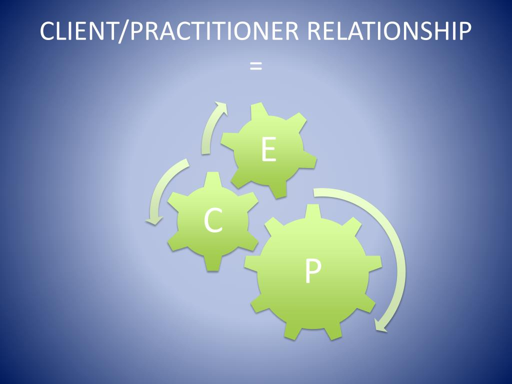 CLIENT/PRACTITIONER RELATIONSHIP =