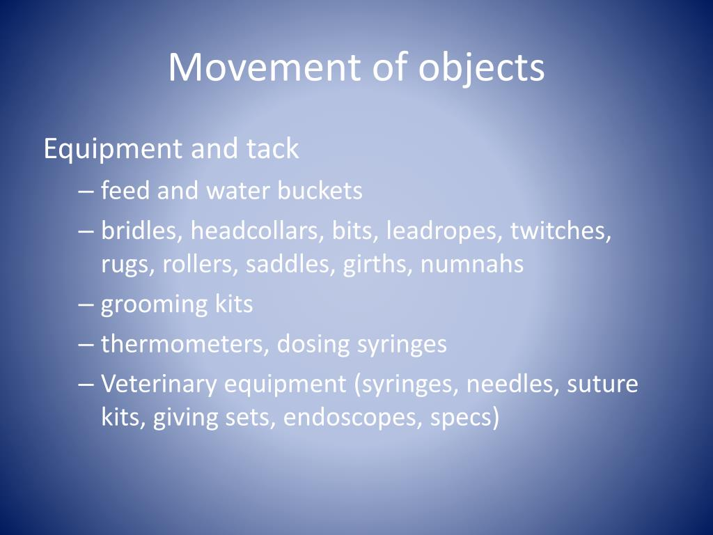 Movement of objects