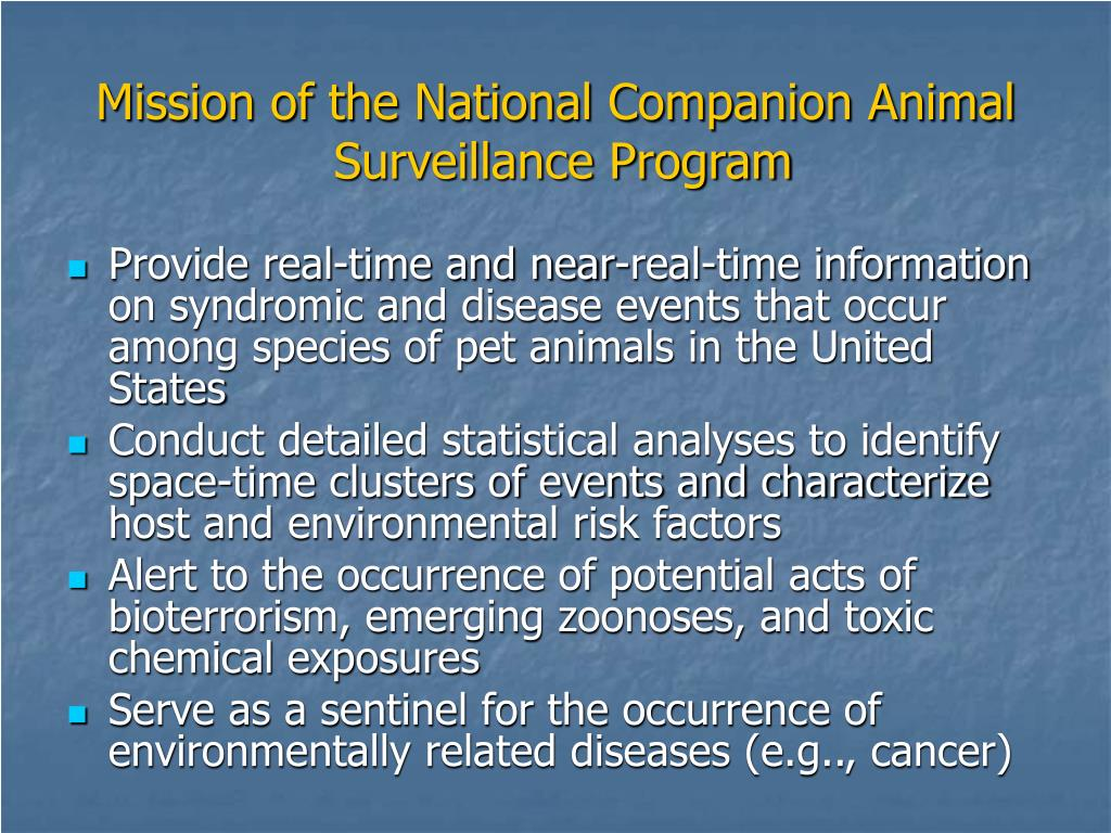 Mission of the National Companion Animal