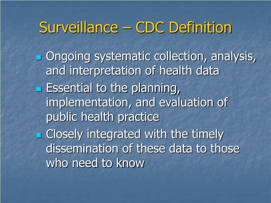 Surveillance – CDC Definition