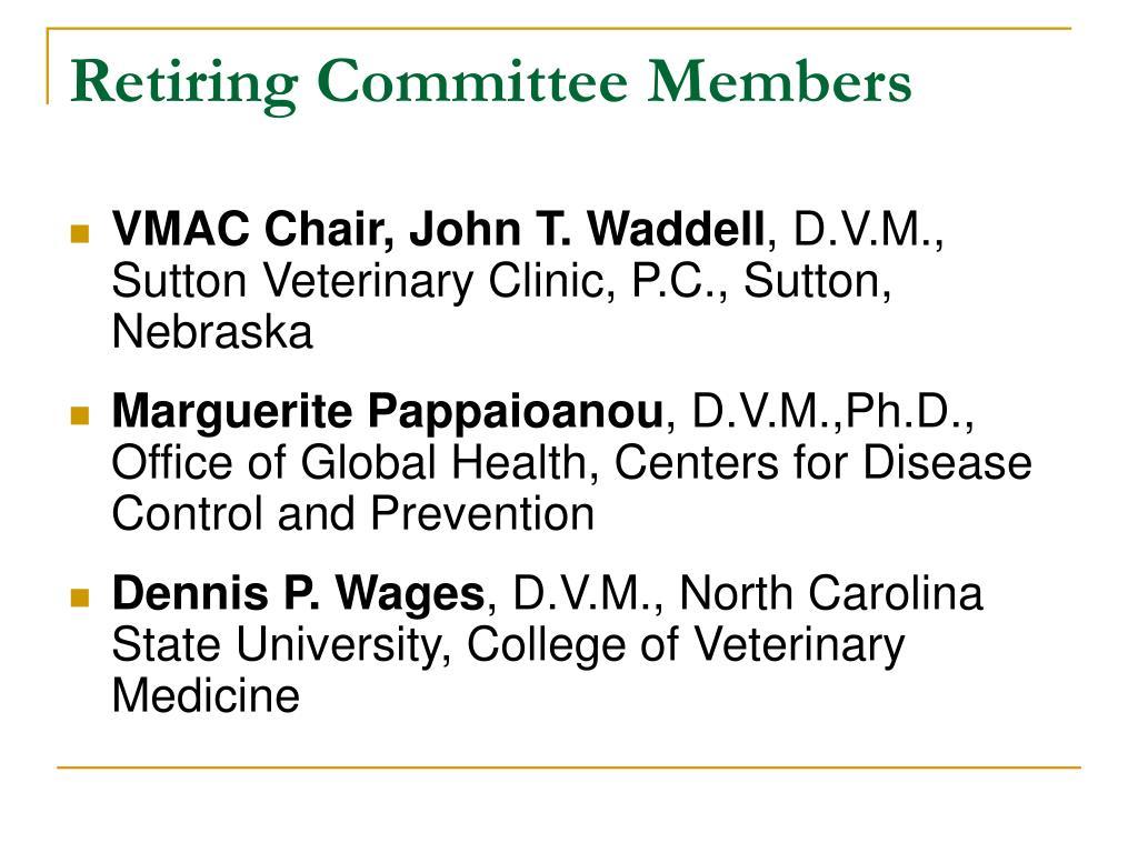 Retiring Committee Members