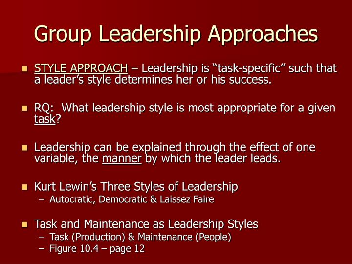 Group Leadership Approaches