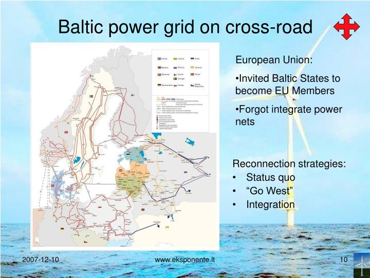 Baltic power grid on cross-road