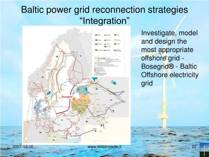 Baltic power grid reconnection strategies