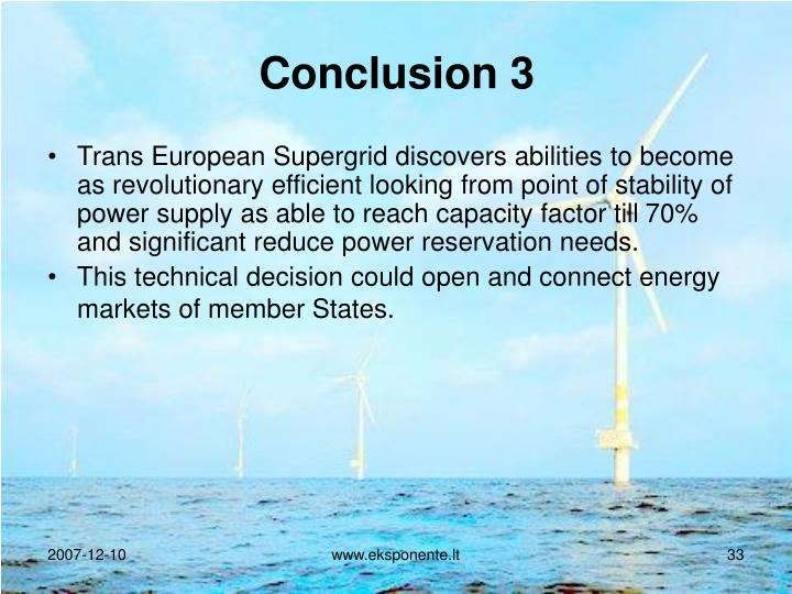 Conclusion 3