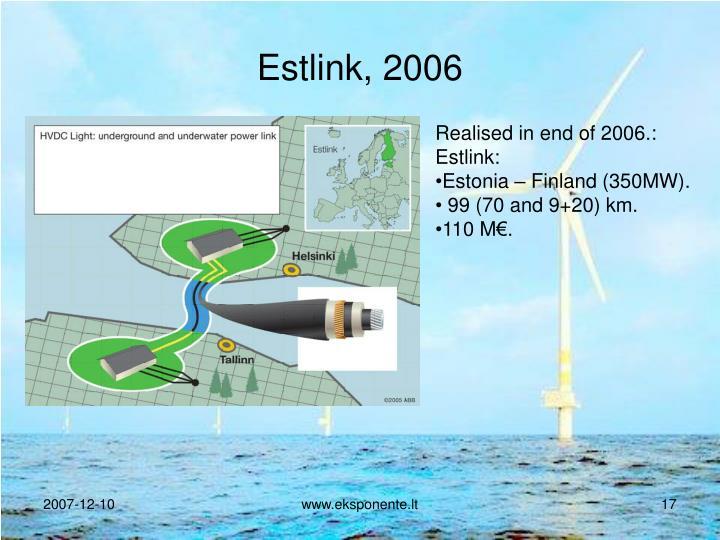 Estlink, 2006