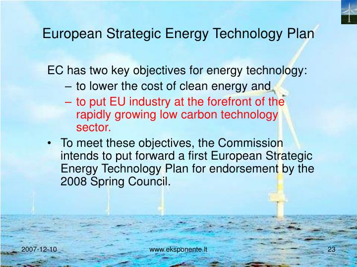 European Strategic Energy Technology Plan