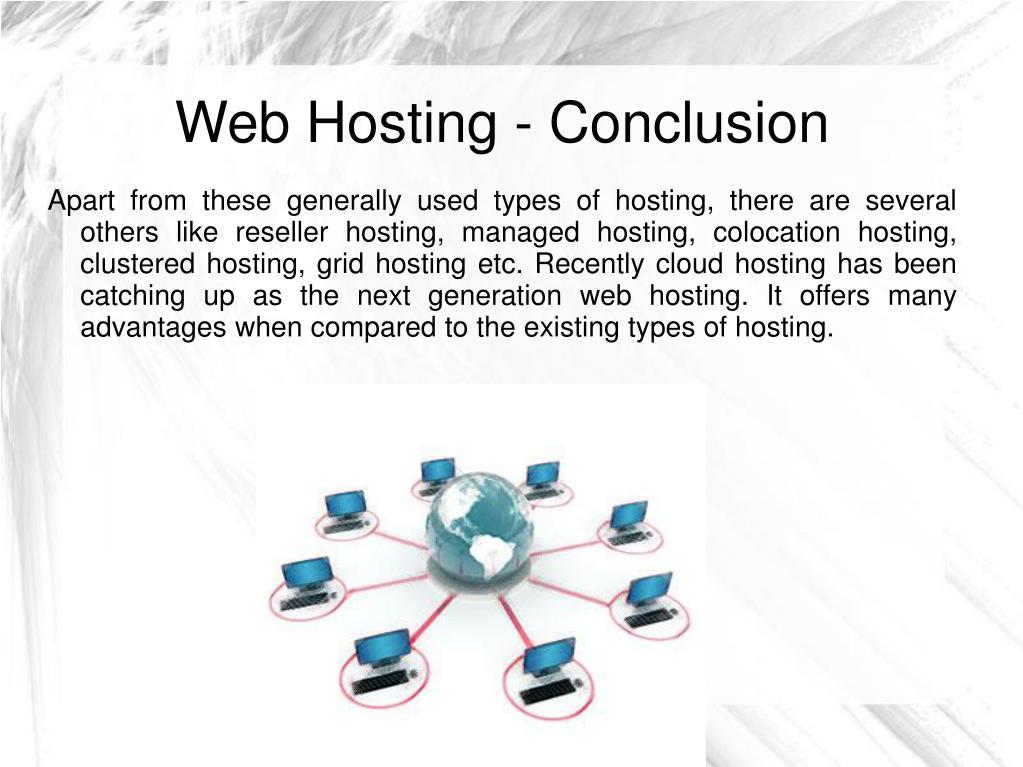 Web Hosting - Conclusion