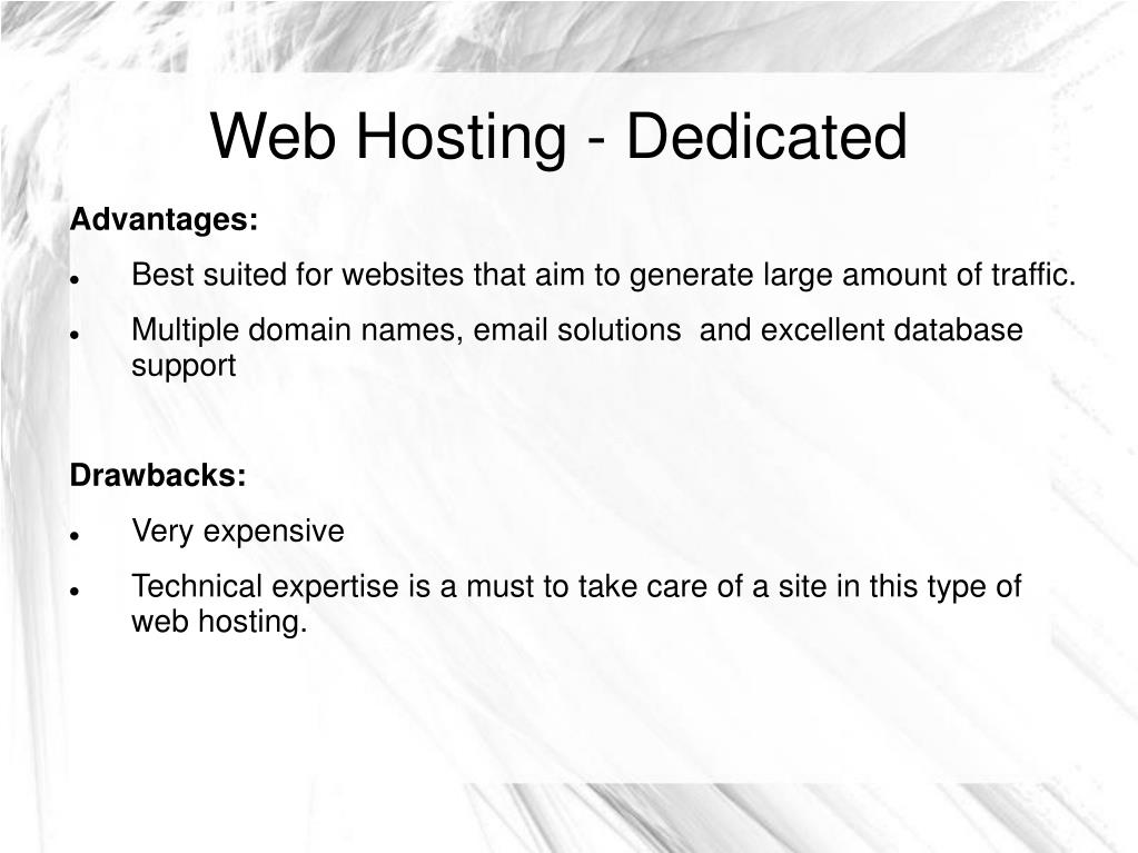Web Hosting - Dedicated