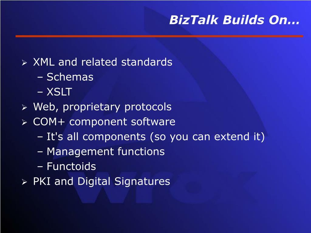 BizTalk Builds On…