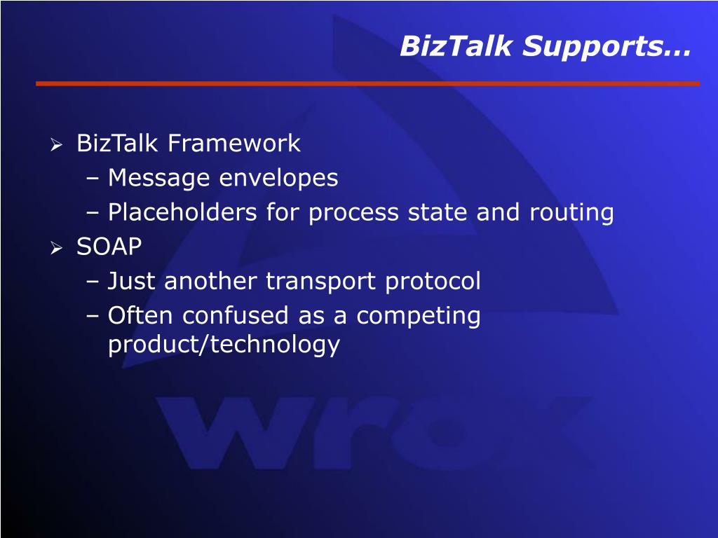 BizTalk Supports…