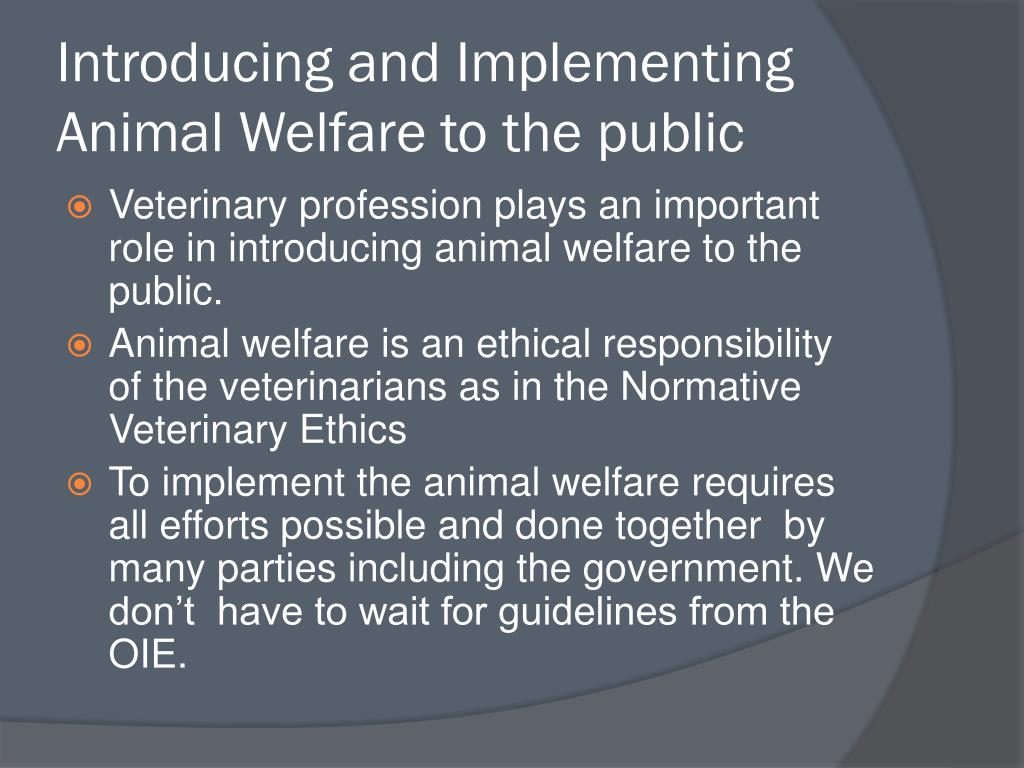 Introducing and Implementing Animal Welfare to the public