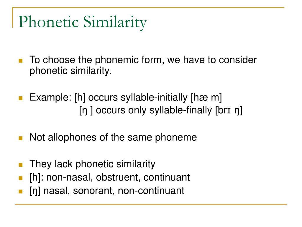 Phonetic Similarity