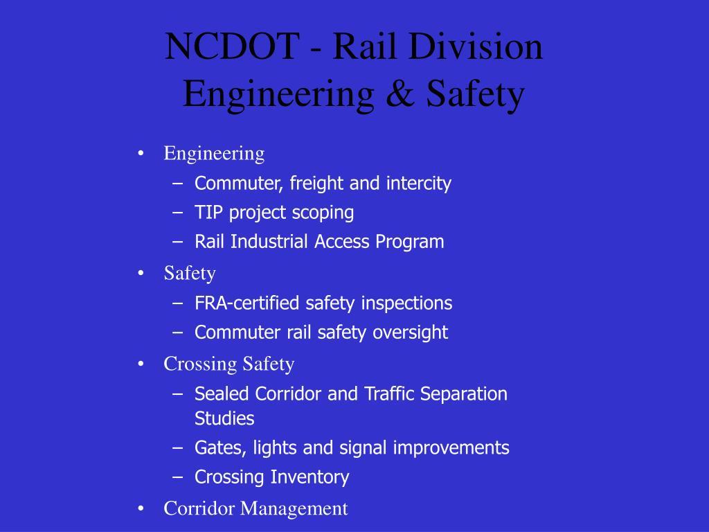 NCDOT - Rail Division