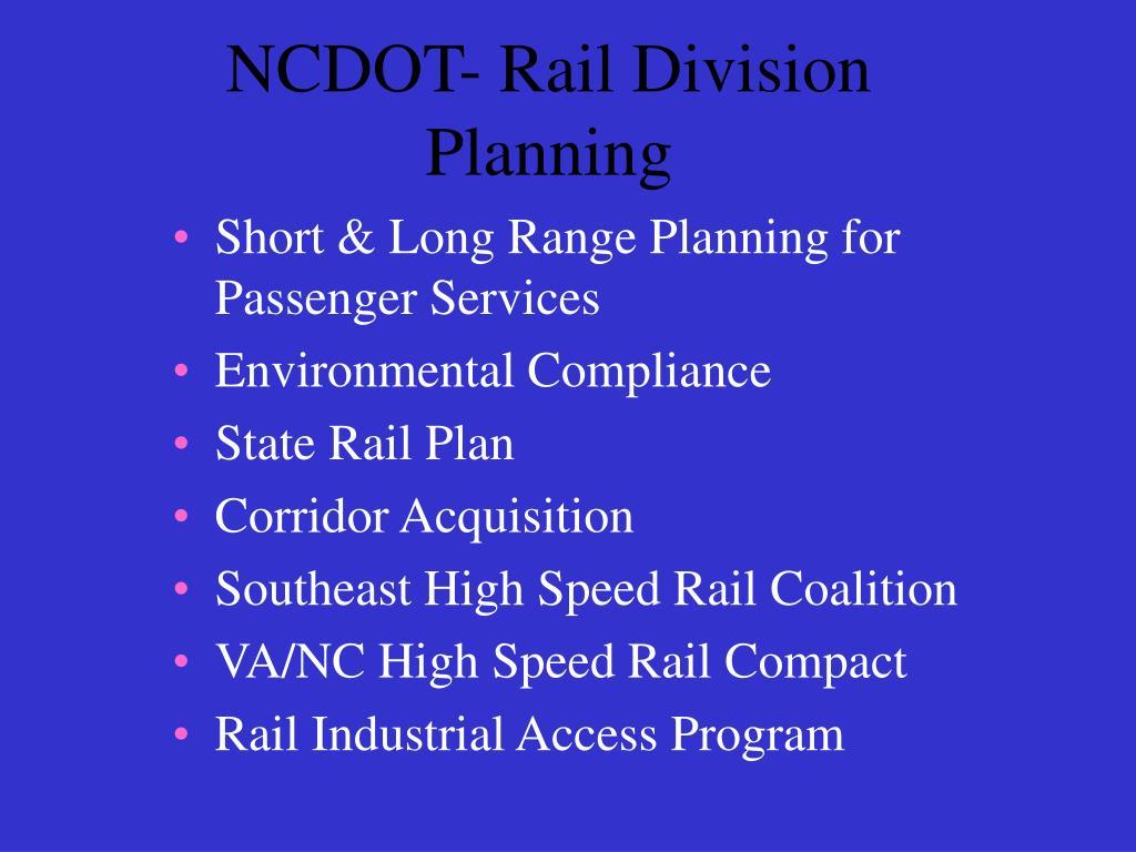 NCDOT- Rail Division